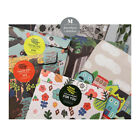 Gift Wrapping Paper Bags with Sticker Package Envelope (5 Envelopes+5 Stickers)