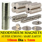 Neodymium Magnets (10mm Dia x 1mm) N35 Super Strong Disc Rare Earth Craft Disk
