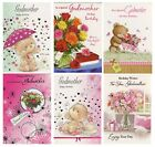 TRADITIONAL CUTE GODMOTHER  BIRTHDAY CARD VARIOUS DESIGNS 1ST P&P GREETING CARD