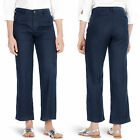 New M&S Ladies Linen Trousers Casual High Waisted Summer Pants Straight Bottoms