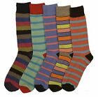 5 Pairs Pack Unisex Stripe Argyle Polka Dots Colorful Cotton Socks 10-13 Size