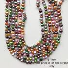 Real Freshwater Pearl Necklace Multi-color full strand DIY irregular shape pearl