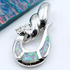 Pink Fire Opal Women Jewelry Gemstone Silver Pendant P190