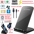 iPhone X 8 Samsung Galaxy S8+ S7 S6 Qi Wireless Charger Fast Charging Pad Stand