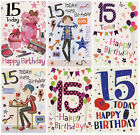 BOY GIRL YOU'RE 15 TODAY 15TH BIRTHDAY GREETING CARD 1STP&P