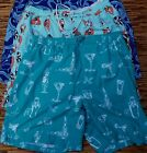 ROUNDTREE & YORKE MENS WILD PRINT POLYESTER SWIM/BEACH PARTY TRUNKS LIST $45