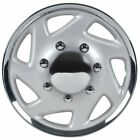 Premium 16 Inch Hubcaps for Ford Trucks Wheel Covers-Silver & Chrome Single-Hino