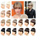 Clip In Synthetic Straight Hair Bang Clip In Neat Bangs Fringe Hair Hairpiece