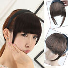 Synthetic Temples Neat Hair Bangs Fringe With Headband Wigs Hair Accessories