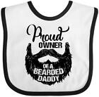 Inktastic Proud Owner Of A Bearded Daddy Baby Bib Men Beards Tattoos Dad Has