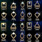10pcs 3D Reto Gold Rhinestone Metal Alloy Crystal Nail Art Decoration Charms