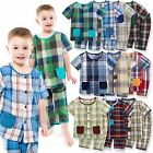 "Vaenait Baby Toddler Kids Boys Clothes Pajama Set ""Cooling Check set"" 12M-7T"