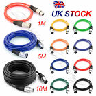 UK Microphone Lead / Mic Cable / XLR Patch Lead Balanced Male to Female Plugs