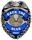 Thin Blue Line Back The Blue Reflective Decal Police Sheriff Deputy LEO Trooper