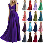 Long Prom Chiffon Formal Evening Party Ball Gown Bridesmaid Dress Size 6-20