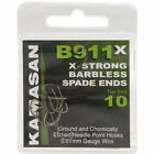 Kamasan B911-X Spade Barbless Extra Strong 10 Hooks Per Pack Coarse Carp Fishing