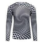 Logas Animated Black dots 3D Printing T-Shirts Men's Long Sleeve Jersey Tops