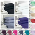 LUXURY FITTED SHEETS SINGLE DOUBLE KING SUPER KING ALL SIZES BEDDING QUALITY