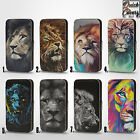LION JUNGLE KING ANIMAL COLORFUL PU LEATHER WALLET FLIP CASE COVER FOR IPHONE