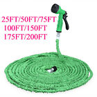 200FT Magic Water Pipe Household Flexible Hose Car Wash Gun Cleaning Yard Garden