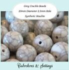 50 Grey or Beige Opaque Crackle Beads 20mm Synthetic Turquoise / Howlite
