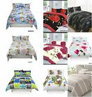 Duvet Cover with Pillow Case Quilt Cover Bedding Bed Set Single Double King