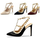 Womens Ladies Strappy Low Heel Ankle Strap Cuff Evening Party Peep Toe Shoes
