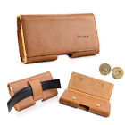 Cell Phones Horizontal Carrying Leather Pouch Case Cover With Belt Loop Holster