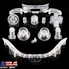 Transparent Clear Full Buttons Set Bumper for Xbox 360 Wireless Controller