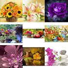 Flowers 5D DIY Diamonds Painting Embroidery Cross Craft Stitch Home Decor NT