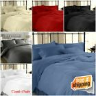 EGYPTIAN COTTON 200 THREAD COUNT DUVET COVER BEDDING SET ALL SIZES 6 COLOURS
