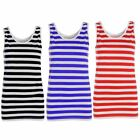 Red And White Striped Vest Top Womens Ladies Stripy Tops Fancy Dress Book Week