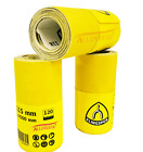 115mm x 4.5m Sandpaper Roll / Hand and Power - 40 60 80 100 120 150 180 GRIT