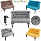 Sleek Modern Double Seater Sofa Chair 4 Colours Office Living & Dining Room New