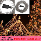 Party Lights String Fairy 500 LED 100M White Christmas Xmas Wedding Outdoor Wire