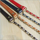 Real Leather Chain Purse Strap Crossbody Shoulder Replacement Handbag Bag GOLD