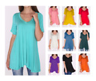 Kyпить Women's A-Line V-Neck Loose Short Sleeve Tunic Top T-Shirt Blouse SML/Plus Size на еВаy.соm