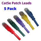5 x 0.3M to 5M CAT5e CAT5 Blue Green Purple Yellow Red Network Cable Patch Lead