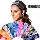 New Women Cotton Wide Sports Yoga Headband Soft Stretch Elastic Hair Band Turban