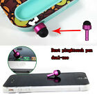 Lot Mini 3.5mm Anti Dust Plug Metal Touch Pen Stylus For Apple iPad Cell phone