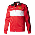 adidas Manchester United 2017/18 Mens 3-Stripe Track Top Jacket Red