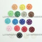 Plastic Press Studs Snap Fasteners Clothes Sewing Buttons 7 10 13 15 18 21mm