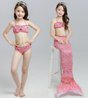 Fin Mermaid Tail Monofin - Swimmable Tail Kids Girls Womens Swimming Costumes