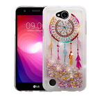 LG X Charge Bling Hybrid Liquid Glitter Quicksand Rubber Protective Case Cover