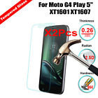 2Pcs Real Protector Tempered Glass Screen Cover For Moto G4 Play 5 XT1601 XT1607