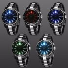 Ohsen Mens Women Led Stainless Steel Wrist Analog Sport Quartz Watch Waterproof