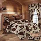 7 PIECE RODEO COW PRINT DESIGN COMFORTER SETS , 2 COLORS,  FULL, QUEEN,KING image