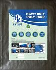12 Mil Heavy Duty Poly Tarp 200 GSM All Purpose Canopy Reinforced Tarpaulin Slv