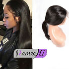 Brazilian Straight  360 Lace Frontal with Wig Caps Virgin Human Hair