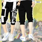 Anime My Hero Academia Cosplay Shorts Pants Sport Casual Cropped Trousers Black